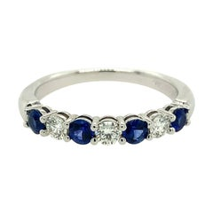 Tiffany & Co. Embrace Sapphire and Diamond Band Ring Platinum .64 CT