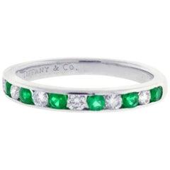 Tiffany & Co. Emerald and Diamond Band Ring
