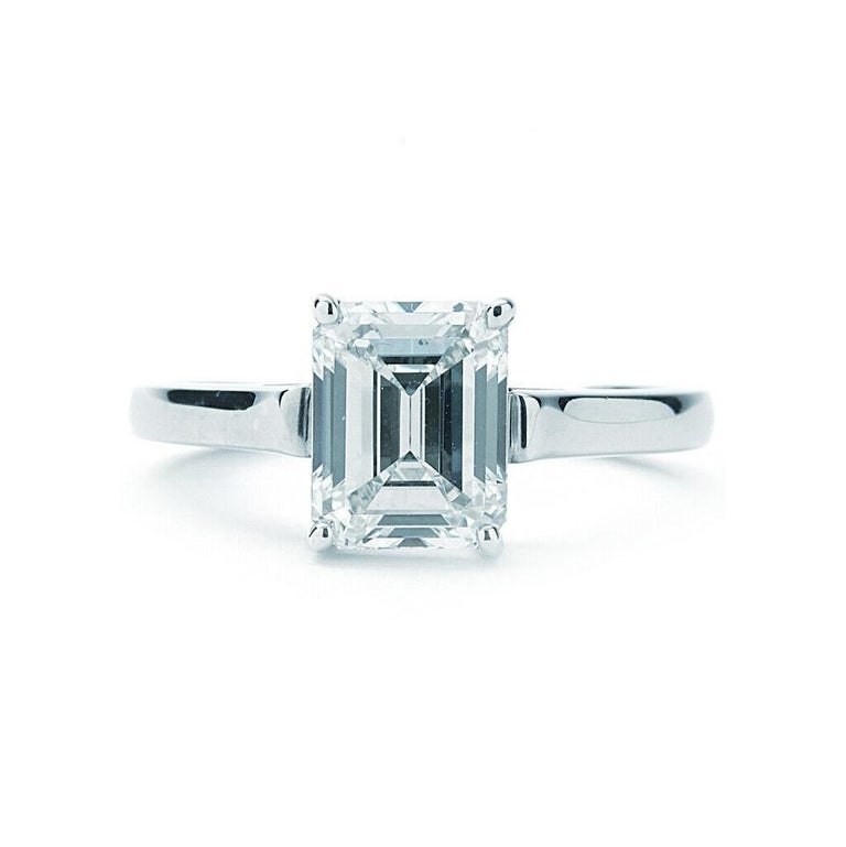 Tiffany fancy shape diamonds are cut to exacting proportions to unveil the true shape of a rough diamond. Set in sleek platinum bands, these diamond shapes--from an oval to a pear shape--exemplify Tiffany's expertise in technical craftsmanship and