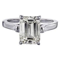 Tiffany & Co. Emerald Cut Diamond Solitaire Engagement Ring