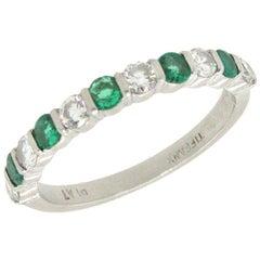 Tiffany & Co. Emerald Diamond Band