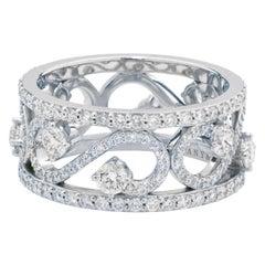 Tiffany & Co. Enchant Scroll Band Ring in 18 Karat White Gold