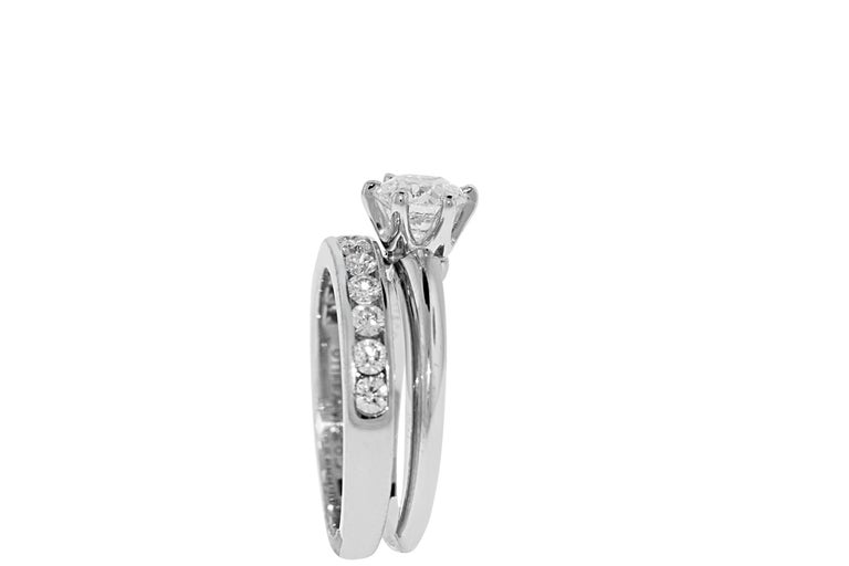 Round Cut Tiffany & Co. Engagement Ring Set For Sale