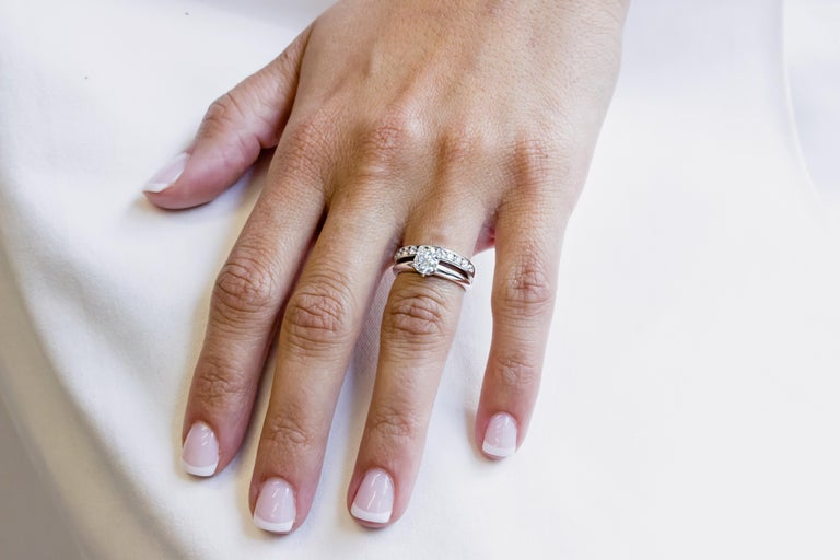 Tiffany & Co. Engagement Ring Set In Excellent Condition For Sale In New York, NY