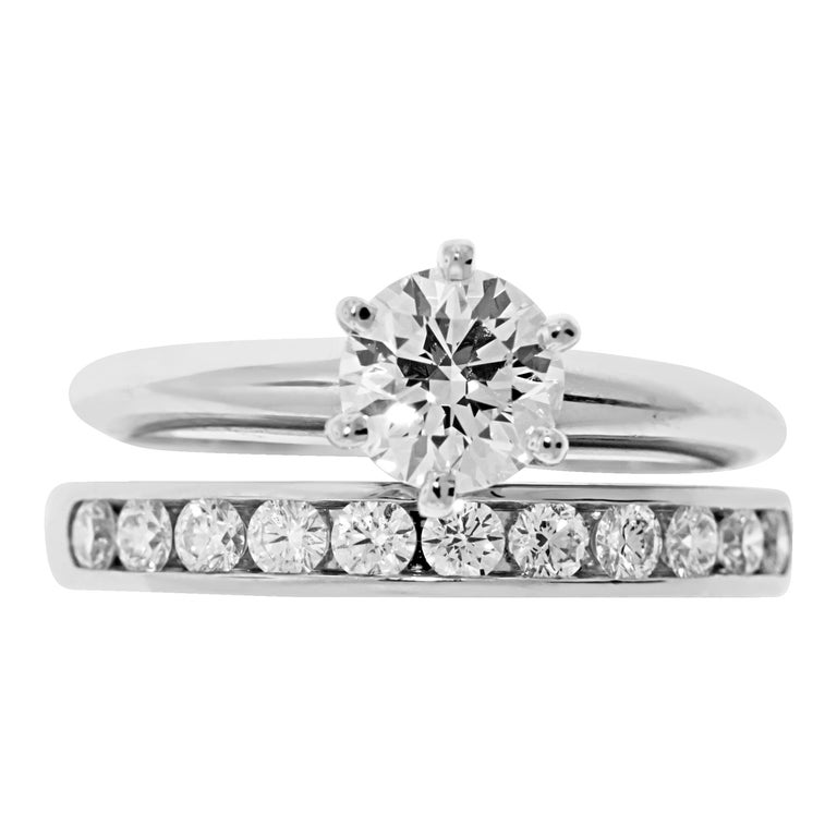 Tiffany & Co. Engagement Ring Set For Sale