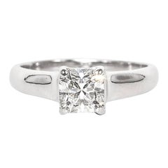 Tiffany & Co. Engagement Ring with 1.12 Ct Lucida Center, in Platinum