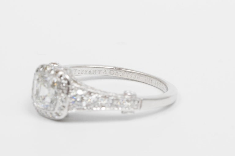 Tiffany Legacy® Engagement Ring with a 1.18 Carat Cushion-cut D VVS1 GIA In Excellent Condition For Sale In New York, NY