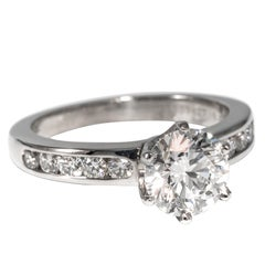 Tiffany & Co. Engagement Ring with 1.43 Carat Round Brilliant Centre in Platinum