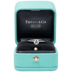 Tiffany & Co. Engagement Ring with .66 Carat Round Brilliant Centre in Platinum