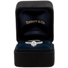 Tiffany & Co. Engagement Ring with .85 Carat Round Brilliant Centre in Platinum