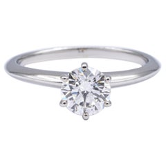 Tiffany & Co. Engagement Ring with Round 1.26 Carat IVVS2 Plat