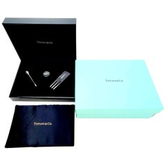 Tiffany & Co ESPN Sterling Silver Tee/Ball Marker/Divot Tool Golf Set with Box