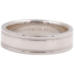 Tiffany & Co. Essential Double Milgrain Band Ring in Platinum