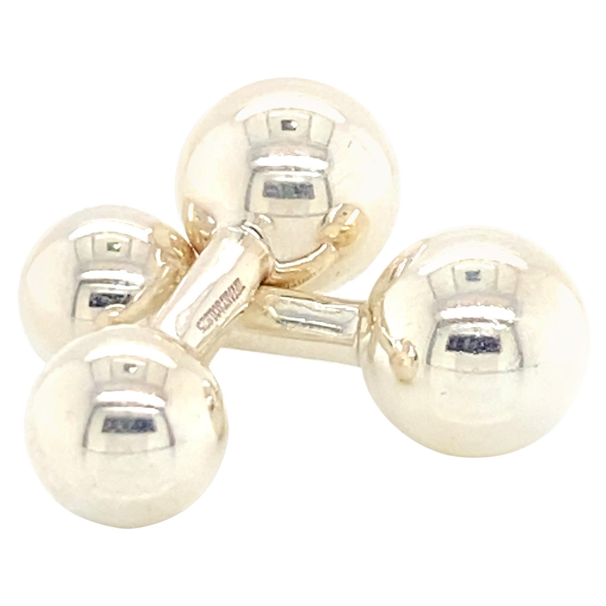 Tiffany & Co. Estate Barbell Cufflinks Sterling Silver 8.72 Grams