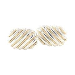 Tiffany & Co. Estate Cufflinks 18k Gold Sterling Silver 13.80 Grams