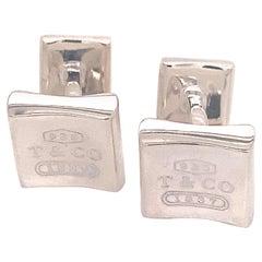 Tiffany & Co. Estate Cufflinks Sterling Silver