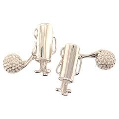Tiffany & Co. Estate Golf Club Cufflinks Sterling Silver 8.22 Grams