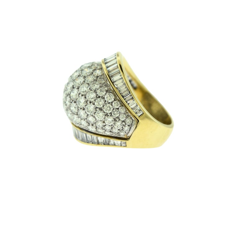 Brilliance Jewels, Miami Questions? Call Us Anytime! 786,482,8100  Designer: Tiffany & Co.  Style: Ring  Metal: 18k Yellow  Gold  Ring Stone: 105 Round Brilliant Diamond  56 Baguette  Diamond Color: DEF  Diamond Clarity: VVS  Ring Size: 6.5
