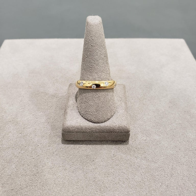 Modern Tiffany & Co. Etiole Band Ring in Yellow Gold For Sale