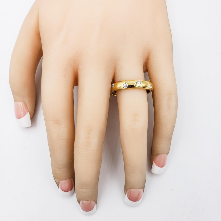 Women's or Men's Tiffany & Co. Etiole Band Ring in Yellow Gold For Sale