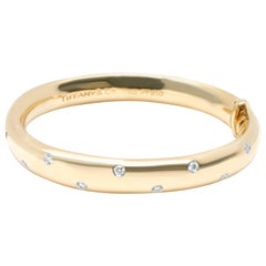 Tiffany & Co. Etiole Diamond Bangle in 18 Karat Yellow Gold/Platinum 0.43 Carat
