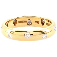 Tiffany & Co. Etoile 18 Karat Yellow Gold with Diamonds Band Ring 6.25 - 53