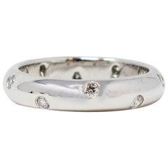 Tiffany & Co. Etoile .22 Carat Round Brilliant Diamond Band Ring in Platinum
