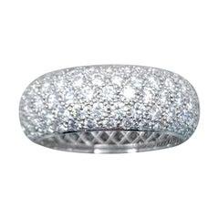 Tiffany & Co. Etoile 3.75 Carat Five-Row Diamond Band Ring Platinum
