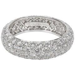Tiffany & Co. Etoile 4 Rows Pave Diamond Ring in Platinum 2.90 Carat