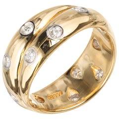 Tiffany & Co. Etoile Criss Cross .31 Carat Diamond Yellow Gold Platinum Ring