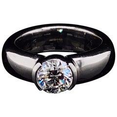 Tiffany & Co. Etoile Diamond Engagement Ring Platinum