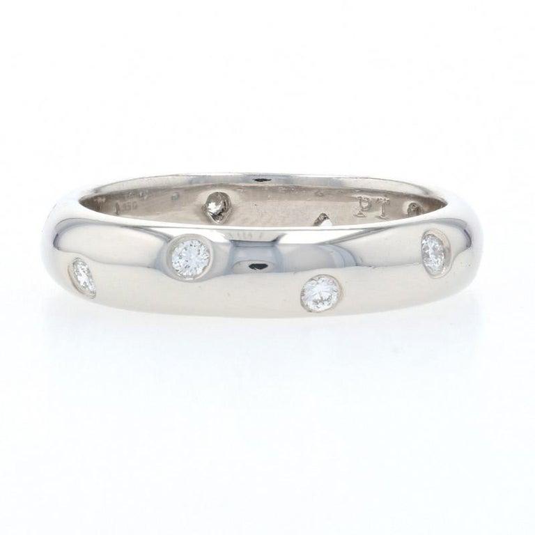 Round Cut Tiffany & Co. Etoile Diamond Eternity Band Platinum Round .22 Carat Wedding Ring For Sale