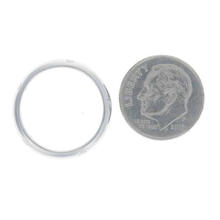 Women's Tiffany & Co. Etoile Diamond Eternity Band Platinum Round .22 Carat Wedding Ring For Sale