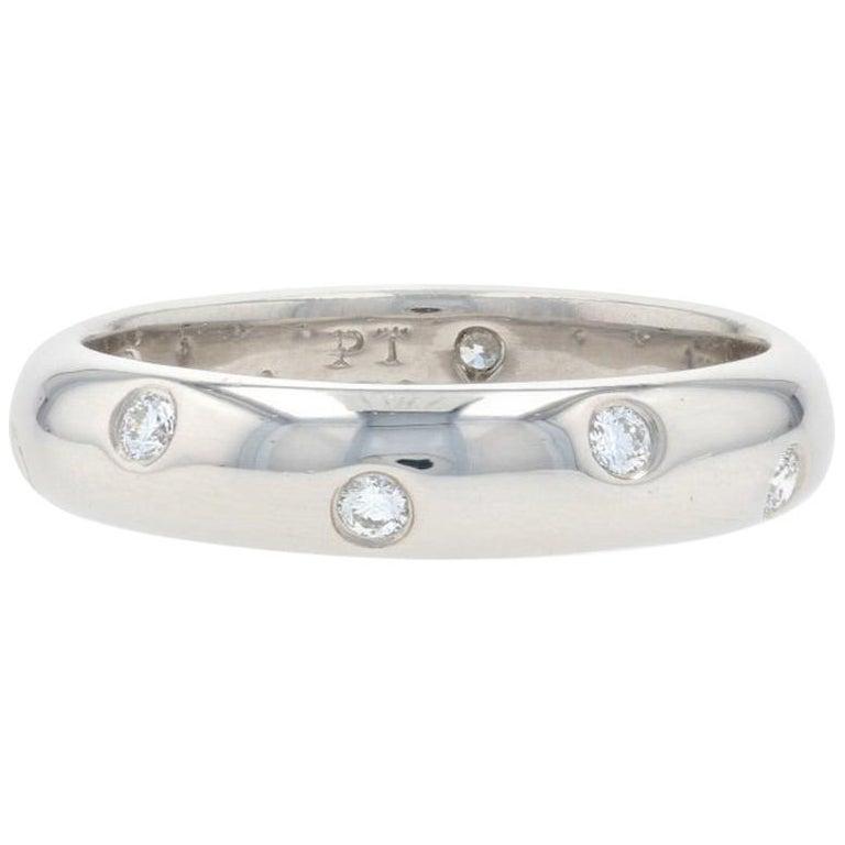 Tiffany & Co. Etoile Diamond Eternity Band Platinum Round .22 Carat Wedding Ring For Sale