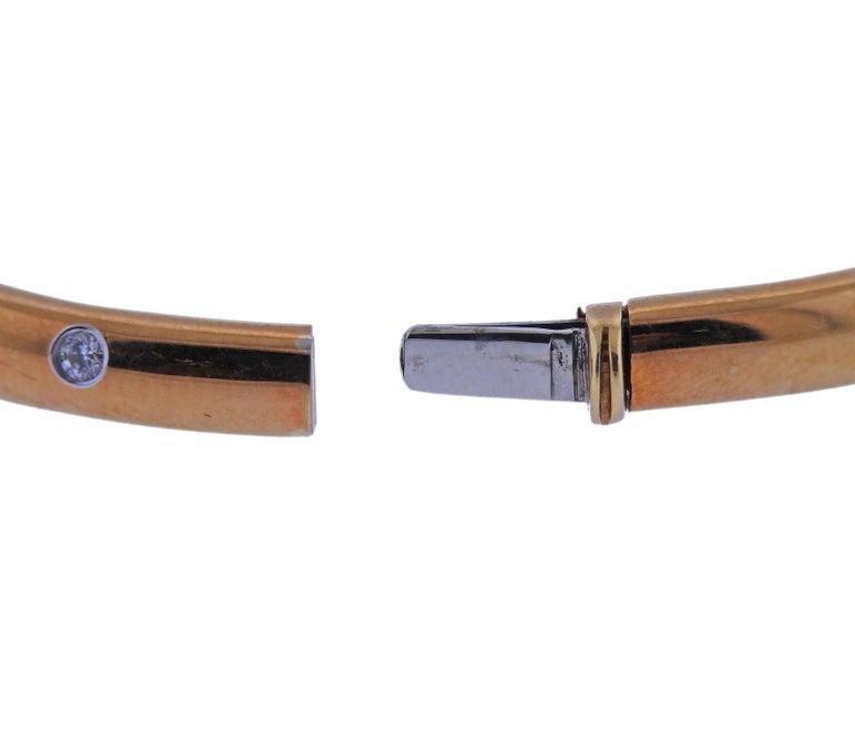 Women's Tiffany & Co. Etoile Diamond Gold Platinum Bangle Bracelet For Sale