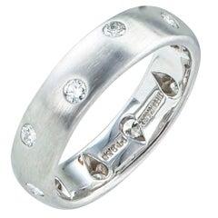 Tiffany & Co. Etoile Diamond Platinum Ring Band Size 4