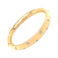 Tiffany & Co. Etoile Diamond Vintage Bangle Bracelet