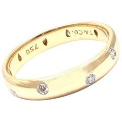 Tiffany & Co. Etoile Diamond Yellow Gold Platinum Band Ring