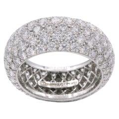 Tiffany And Co Etoile 5 Row Diamond Platinum Band Ring