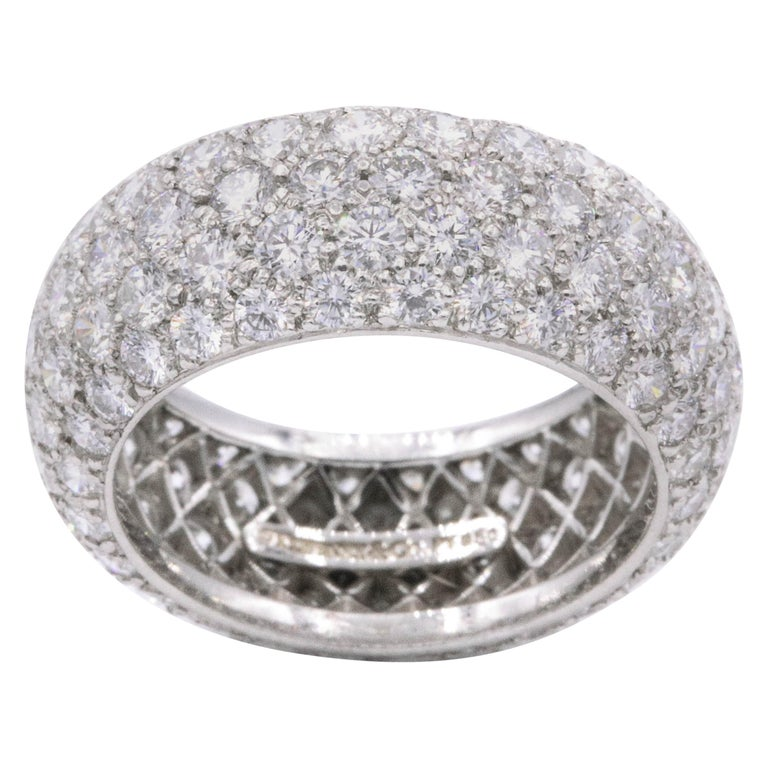Tiffany And Co Etoile Five Row Ring Platinum For Sale At