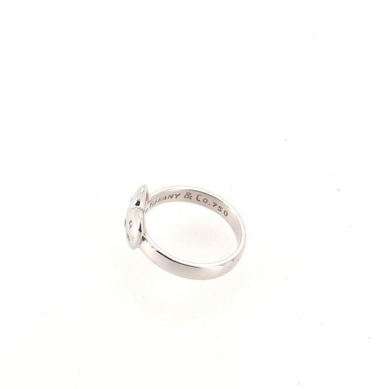 Women's or Men's Tiffany & Co. Etoile Heart Ring 18K White Gold and Diamonds 18K White Gold