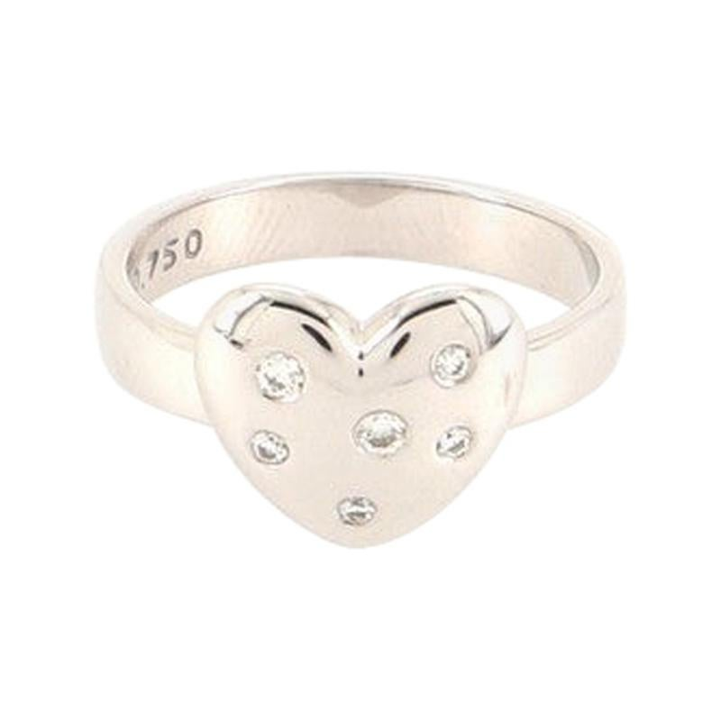 Tiffany & Co. Etoile Heart Ring 18K White Gold and Diamonds 18K White Gold