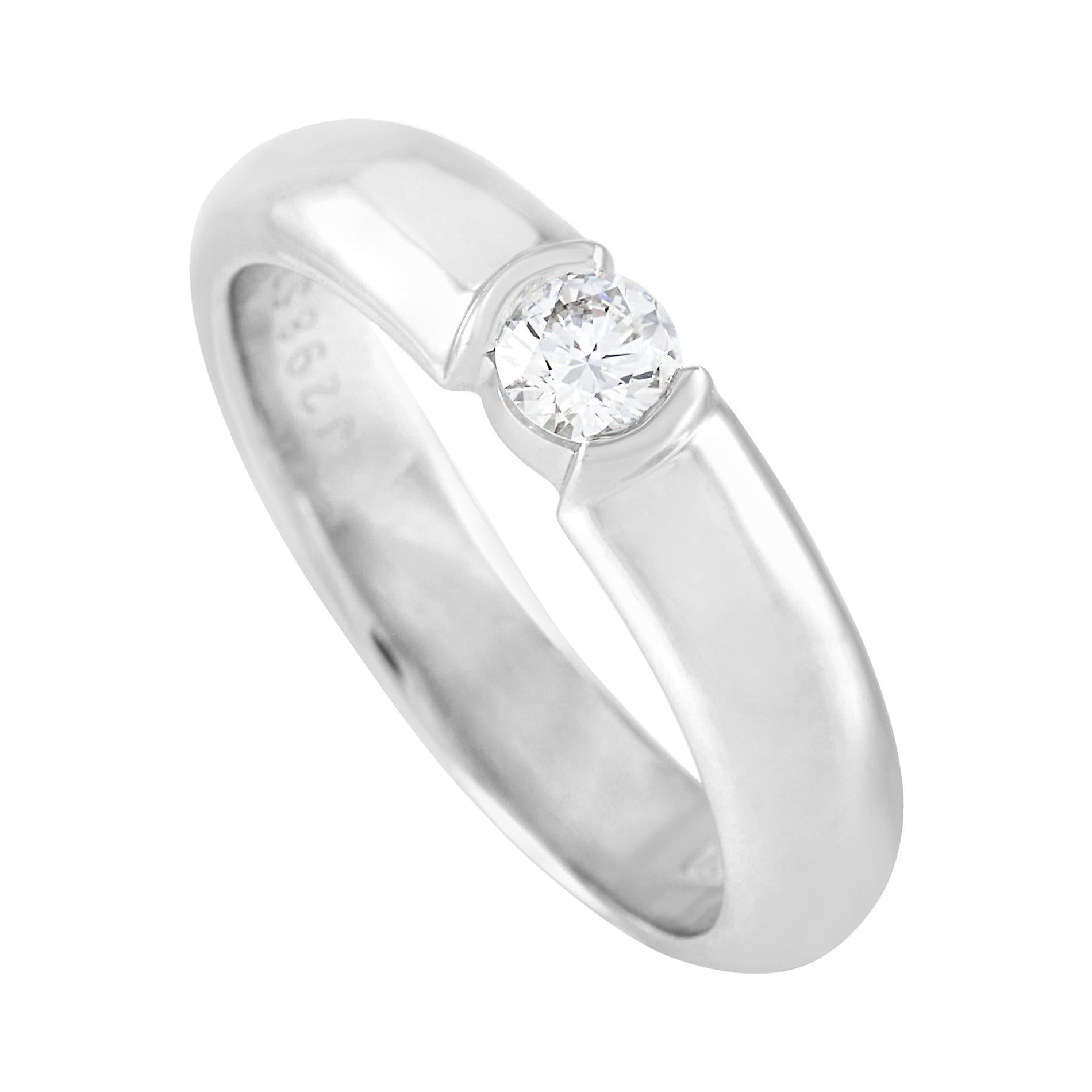 Tiffany & Co. Etoile Platinum 0.19 Ct Diamond Solitaire Ring
