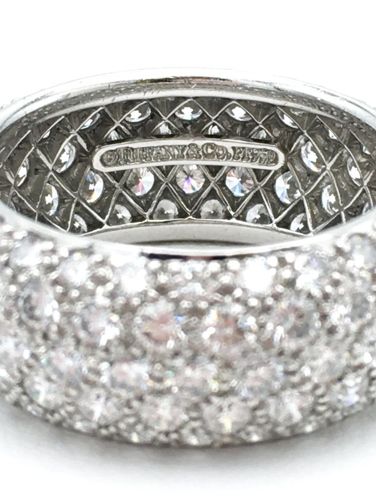 Tiffany & Co. 'Etoile' Platinum and Diamond Band Ring In Excellent Condition In New York, NY