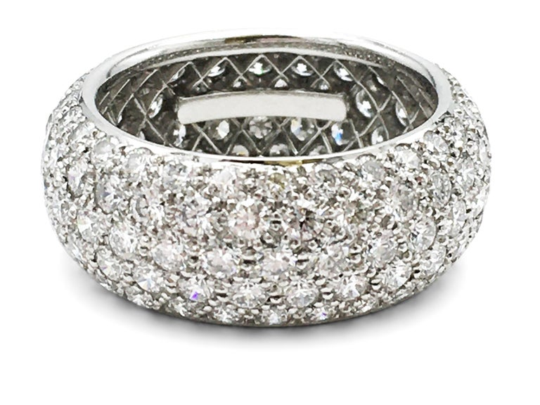 Women's or Men's Tiffany & Co. 'Etoile' Platinum and Diamond Band Ring