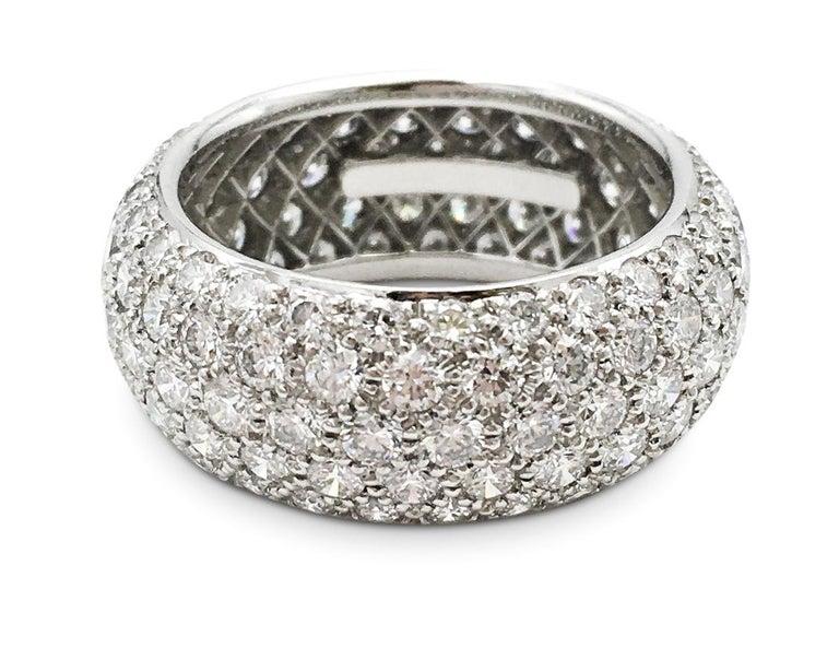 Tiffany & Co. 'Etoile' Platinum and Diamond Band Ring 1