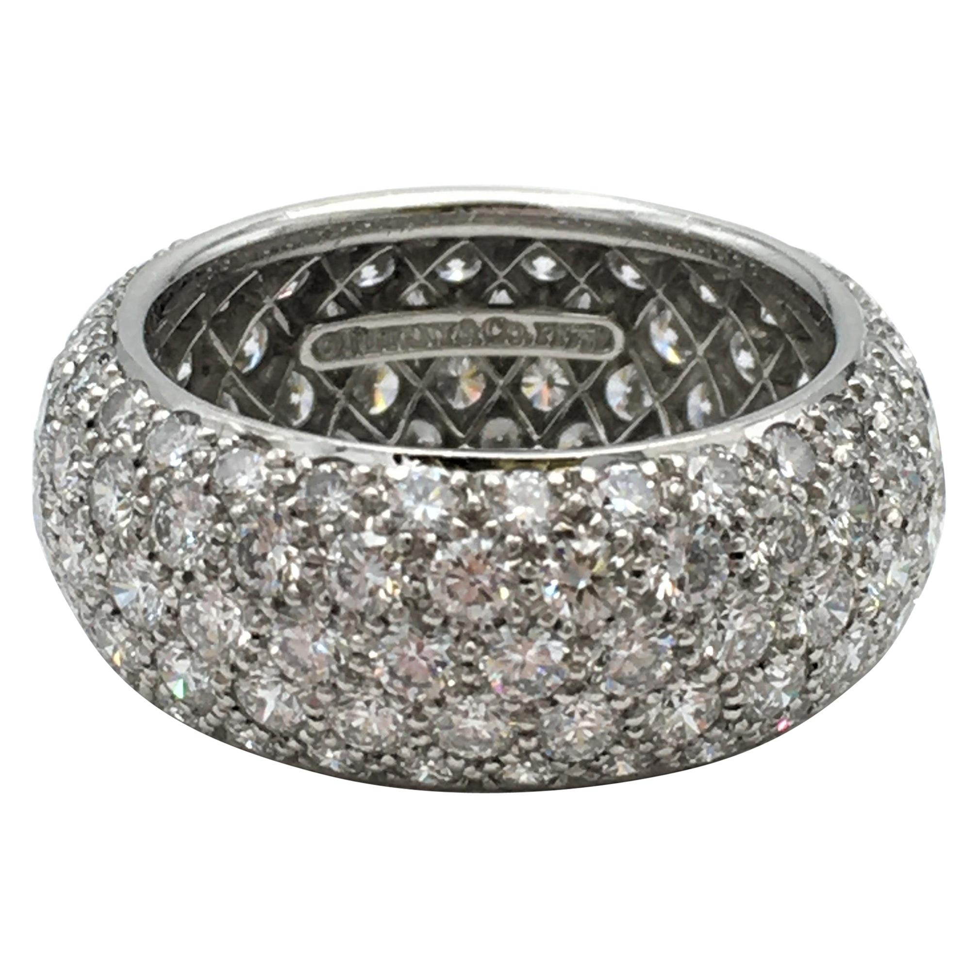Tiffany & Co. 'Etoile' Platinum and Diamond Band Ring