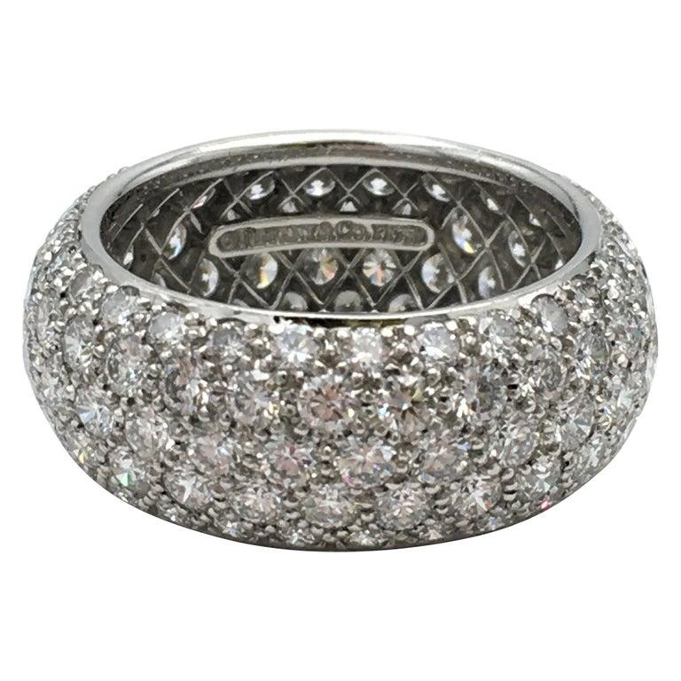 Tiffany & Co. 'Etoile' Platinum and Diamond Band Ring