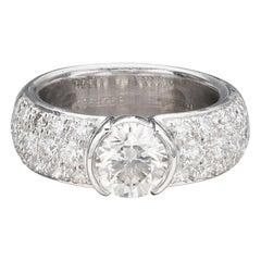 Tiffany & Co. Etoile Platinum Diamond Ring