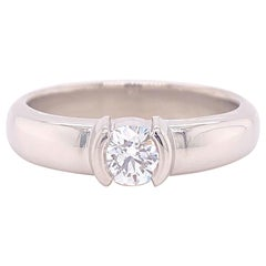 Tiffany & Co Etoile Round Diamond 0.43 Carat E VS1 Engagement Ring Papers